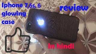 iphone 7 glowing apple logo case review in hindi