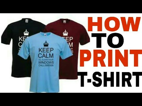 How to print t shirt at home new method youtube for How to print in t shirt at home