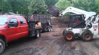 Getting a few yards of mulch in the dump insert