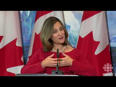 Canadian Foreign Minister speaks to reporters in DC following end of NAFTA 4th round talks