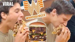 Teen Eats WHATABURGER 10 PATTY BURGER!