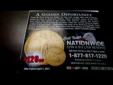 1/10 Oz Gold Eagle Deal - Below Spot!  ONLY MENTION THE SALES FLYER, NOT VIDEO!!!
