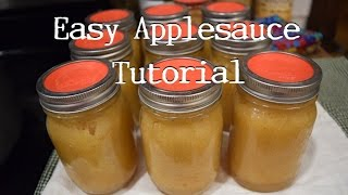 Eastiest Way to Can Applesauce and Tattler Lid Tutorial