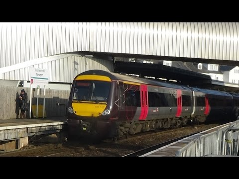 Trains at Newport (Casnewydd), SWML (21/01/2017)