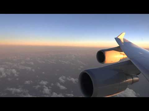 [HD] Lufthansa Boeing 747-400 - amazing flight from Buenos Aires to stormy Frankfurt