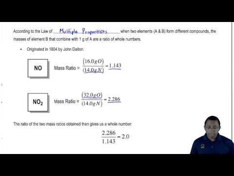 math worksheet : chemistry 5 8b law of multiple proportions  youtube : Law Of Multiple Proportions Worksheet