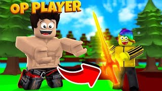 the MOST OP PLAYER gave me THIS.. (Roblox)
