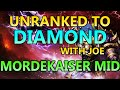 Unranked to Diamond With Joe: Placement 10 - Mordekaiser Mid - Full Ranked Gameplay Commentary