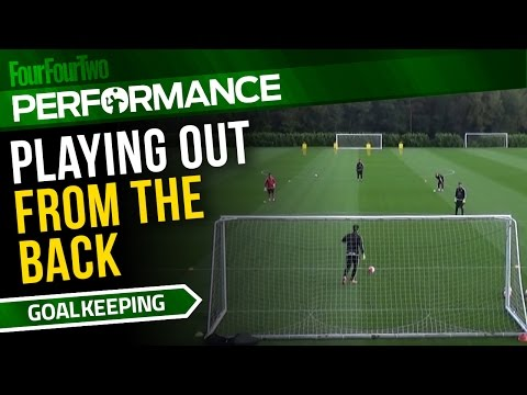 Goalkeeper training drill | How to play out from the back | Swansea City Academy