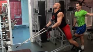 Как накачать спину - 541. Трапециевидные. Как накачать трапецию(Трапециевидные. Как накачать трапецию. Тренировка середины спины. Онлайн -тренировки с Юрием: http://biceps.com.ua/onli..., 2011-12-27T15:10:46.000Z)