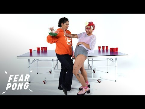 TJ, Janet & JRod - Watch A Mom And Daughter Play Fear Pong