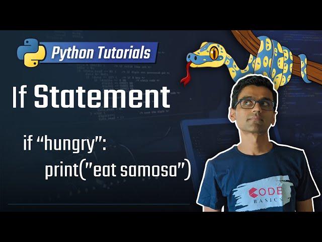8. If Statement [Python 3 Programming Tutorials]