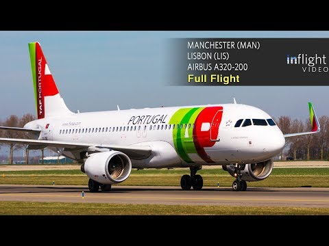 TAP Air Portugal Full Flight: Manchester to Lisbon - Airbus A320 (with ATC, multi camera, map)