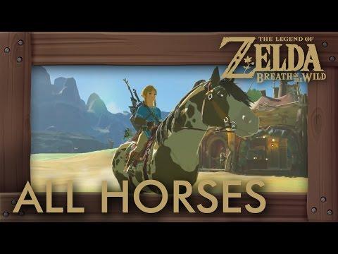 Zelda Breath of the Wild  All Horses
