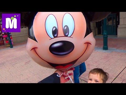 Париж День 1 Диснейленд погуляем катаемся на поезде и лодке купим шарик Disneyland Park Paris