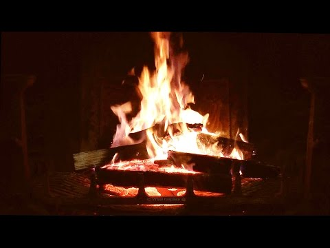 Burning Fireplace with Relaxing Crackling Fire Sounds (No Loop!) HD