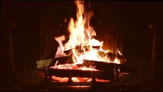 Fire With Classical Music With Crackling Sounds One Hour