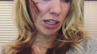 Katie Cassidy.  On set of Arrow. IG Stories
