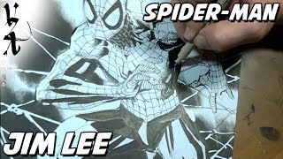 Jim Lee drawing Spider Man as a tribute to Stan Lee