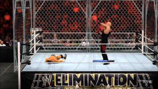 WWE 2K15 - Steel Cage Match | Undertaker vs Cody Rhodes Gameplay [HD]
