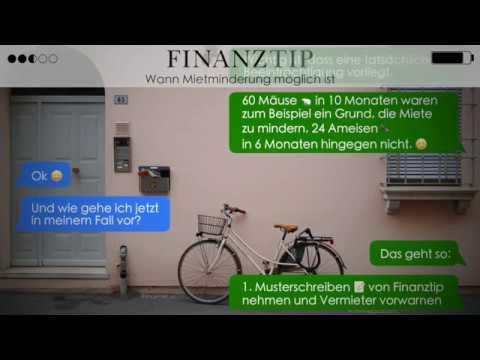 finanztip messenger wann mietminderung m glich ist youtube. Black Bedroom Furniture Sets. Home Design Ideas