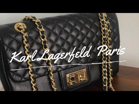 BAG REVIEW: Walang Pambili Ng Chanel? No Problem...mag-Karl Lagerfeld Agyness Shoulder Bag Ka! 😜☺️