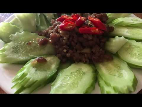 Asian Food | Homemade Recipes | Fried Meat With Bean In My Village | ឆាសៀង