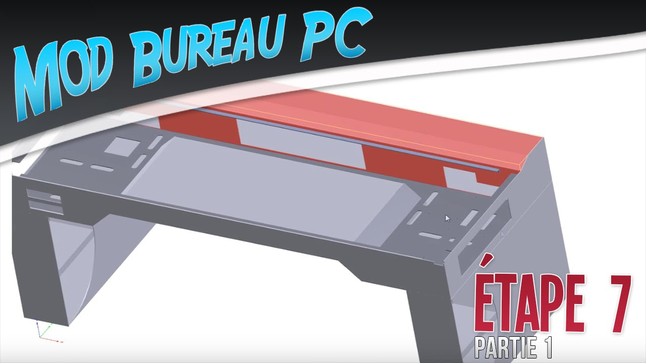 Mod bureau pc tape 7 phase design conception termin e for Bureau youtube