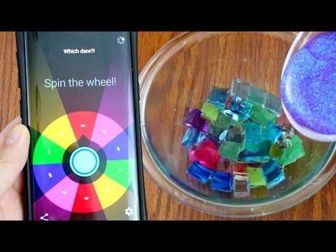 Mystery Wheel of Slime Dares Challenge! What Happens when you Freeze Glue?