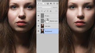 Частотное разложение. Часть 2/7: разложение на три частоты(Этот способ ретуши портрета при правильном использовании может стать вашей