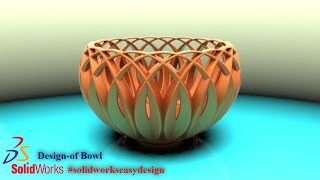 Solidworks Tutorial #116 How to Design a Bowl in Solidworks by Solidworks Easy Design