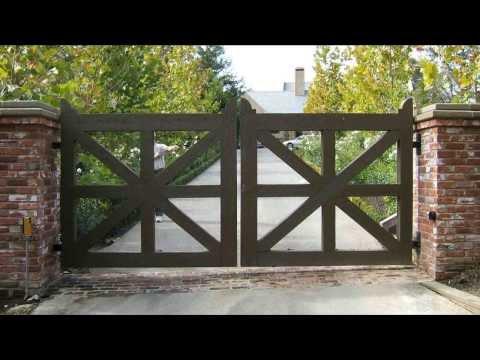 видео: Ворота распашные