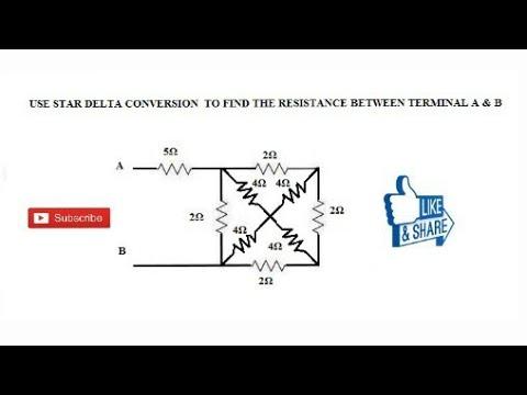 26  STAR DELTA TRANSFORMATION NUMERICAL PROBLEM EXAMPLE