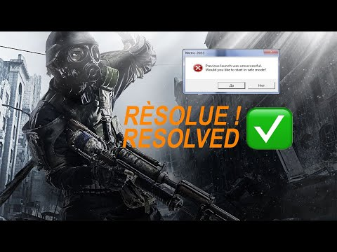 previous launch was unsuccessful metro 2033 redux FR |