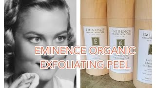 NEW PRODUCT | Eminence Organic Exfoliating Peel - Firm Skin | BethanyKaaay