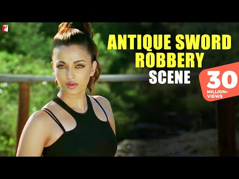 Scene: Antique Sword Robbery |  Dhoom:2 | Hrithik Roshan | Aishwarya Rai