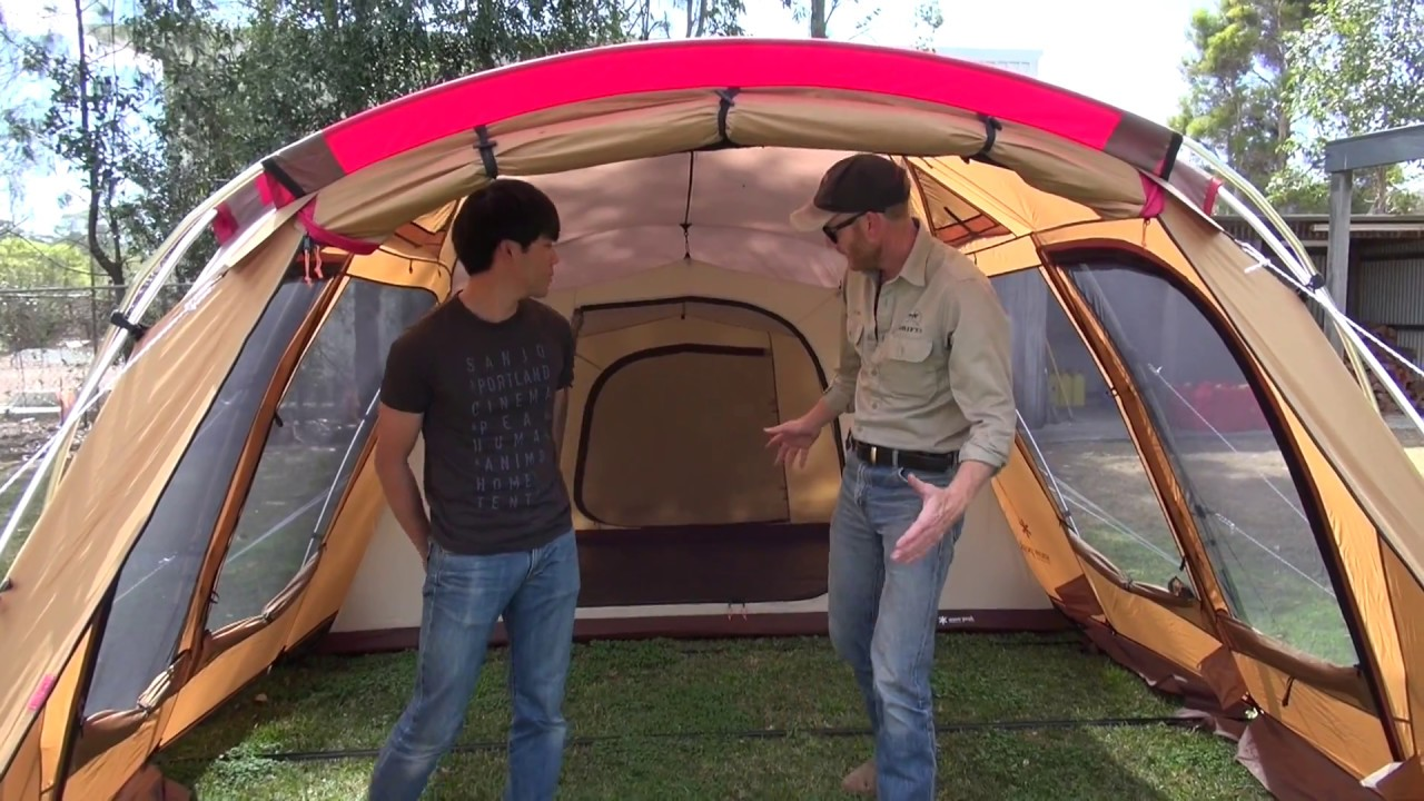 SNOW PEAK TENTS WALKAROUND & SNOW PEAK TENTS WALKAROUND - YouTube