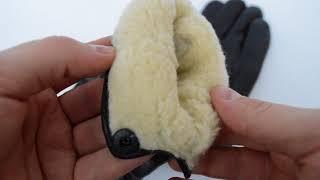 Видеообзор мужских кожаных перчаток на шерстяном меху от интернет-магазина