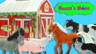 Learning Farm Animals | Learning Latches | Educational Videos for Toddlers