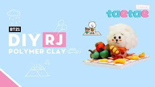 DIY RJ bt21 polymer clay miniature - Taetae
