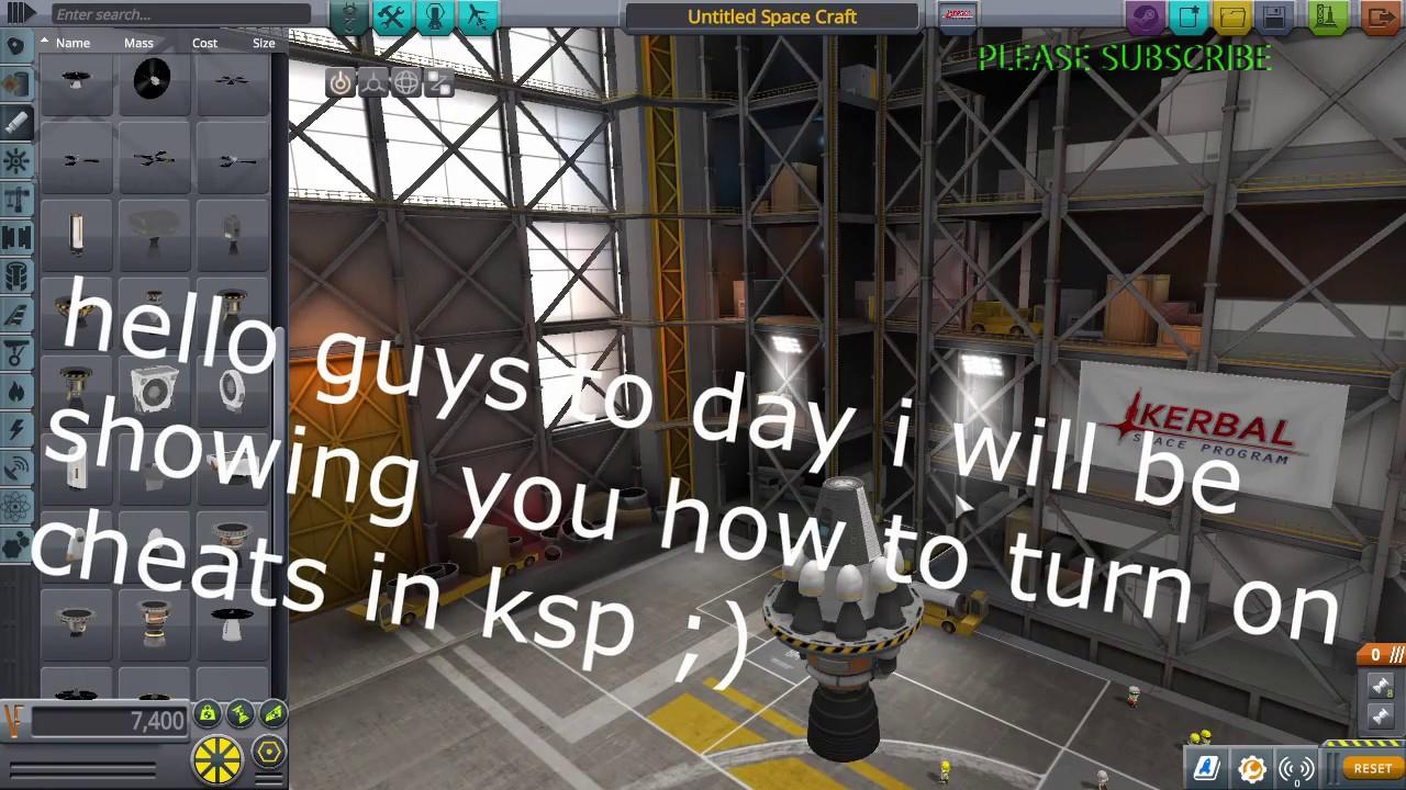 How to open cheats menu in KSP (Kerbal Space Program)