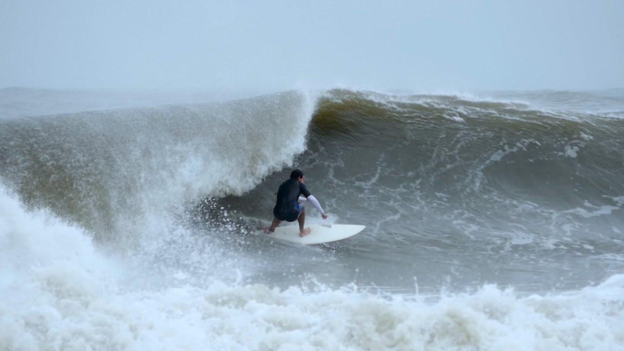 Hurricane Joaquin Surfing Folly Beach Sc Don T Worry Mom We Re Fine Video Trailer
