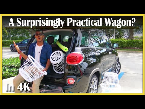 2017 Fiat 500L Wagon | Cargo Capacity Review in 4k UHD! | How Much Stuff Can Fit In That Trunk?