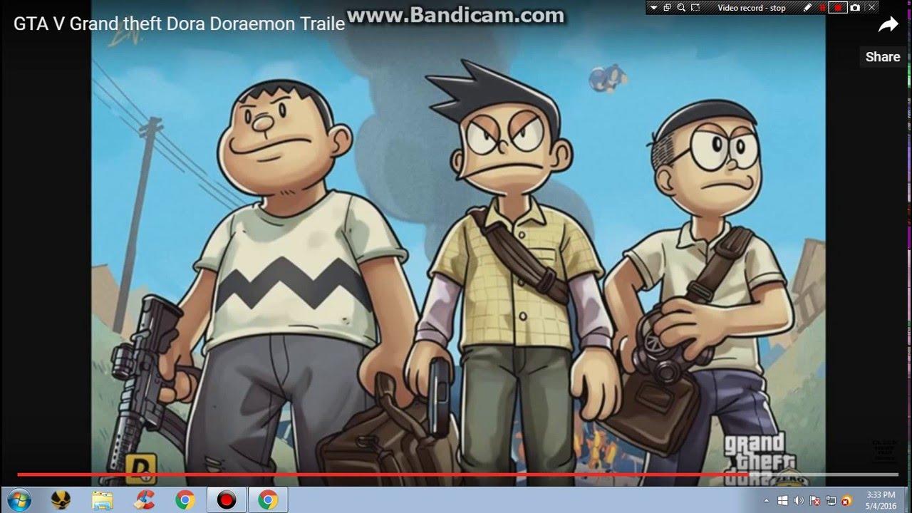 Gambar Grand Theft Dora Youtube Gambar Doraemon Versi Gta