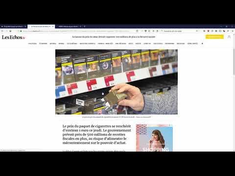 La hausse du prix du tabac: commentaire d'actualité mathématique