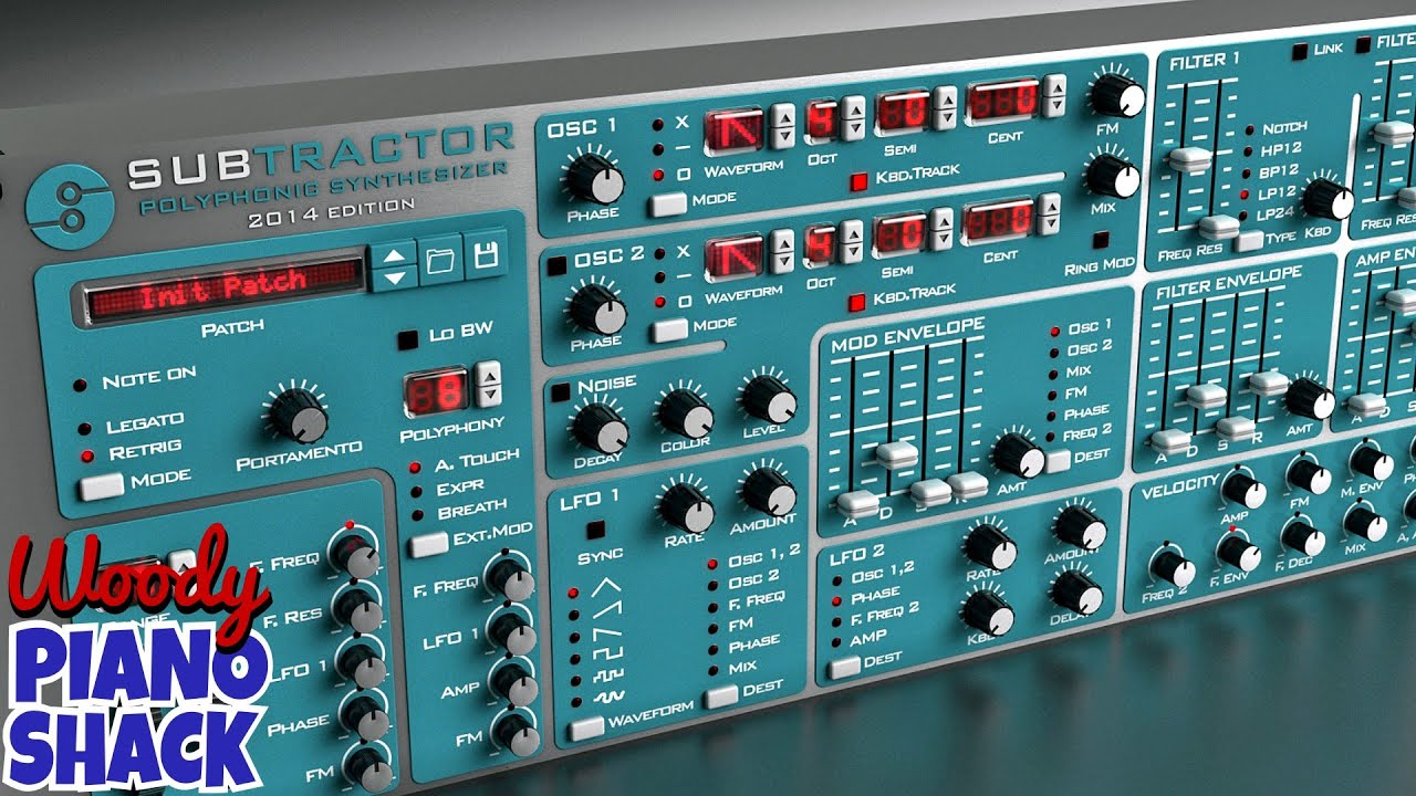 REASON SUBTRACTOR - The Classic Vintage Software Synth