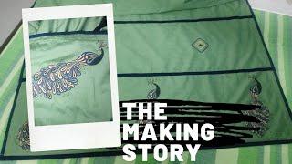 The making story of a sari/Sari designing/Fabric Painting