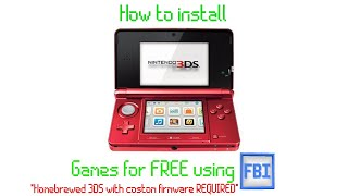 How To Install 3ds Games For Free In 2020!  Homebrewed 3ds Required