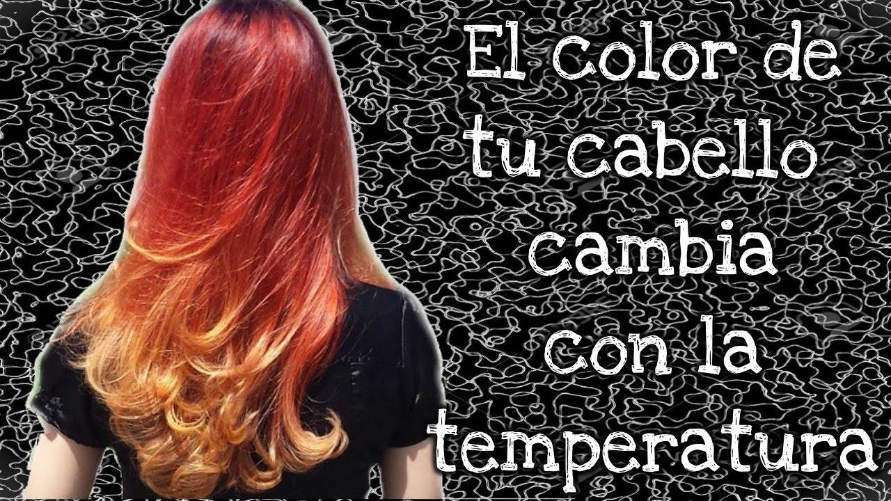 Tintes de cabello que cambian de color