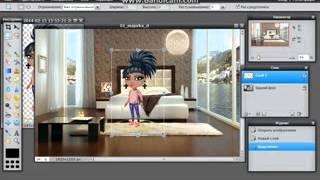 Аватария видео урок  Как сделать аватарку на фоне через фотошоп онлайн(, 2014-10-26T13:42:44.000Z)